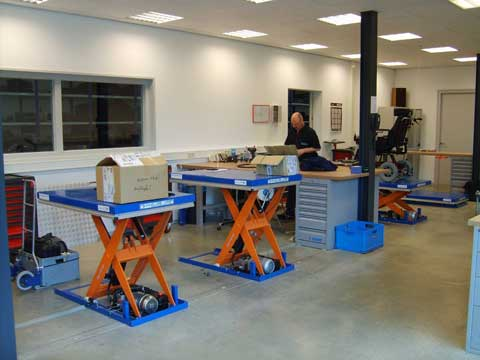 EdmoLift Sweden CL1001 scissor lift tables