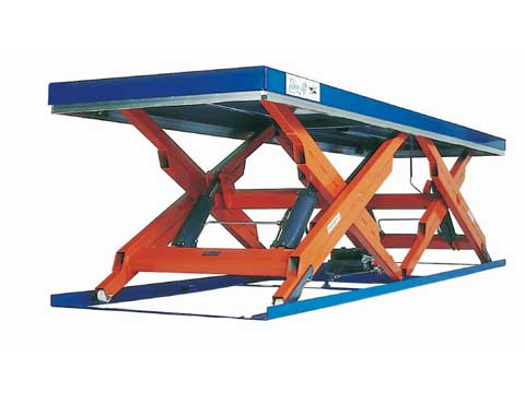 Edmolift horizontal double scissor lift tables