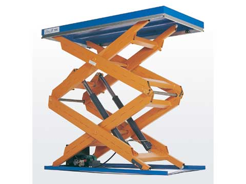 Edmolift vertical triple scissor lift tables